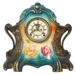 """Ansonia Royal Bonn China Clock """"La Layon"""""""