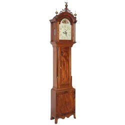 Mahogany Massachusetts Tall Case Clock
