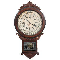 Gilbert Maranville Office Drop Calendar Clock