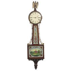 Waltham Mahogany Presentation Banjo Clock