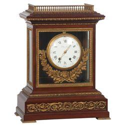 Planchon Mahogany Table Clock