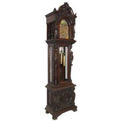 Attr: RJ Horner Mahogany Grandfather Clock