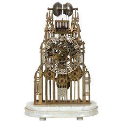 Gothic Triple Fusee Skeleton Clock