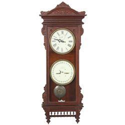 Waterbury Calendar No. 57 Double Dial Clock