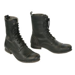 Haymitch Black Vegan Boots from The Hunger Games