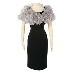 Capitol Citizen Black Dress with Silver Shrug from The Hunger Games