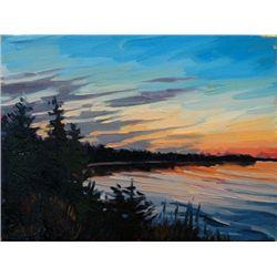 Shelby Keefe, Sundown in the Park, Oil on Canvas