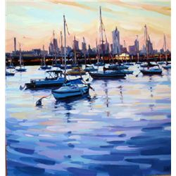 Shelby Keefe, Bay View II, Signed Canvas Print