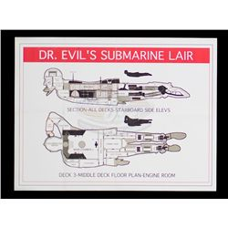 Austin Powers in Goldmember - Dr. Evil's Submarine Lair Map