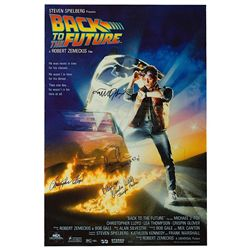 Back To The Future - Cast Signed Poster