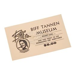 Back To The Future 2 - Biff Tannen Museum Ticket