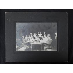 Antique Photograph Old West Poker Playing Cowboys