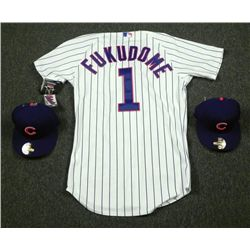 Authentic Chicago Cubs Kosuke Fukudome Jersey & 2 Hats