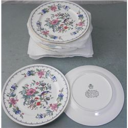 13) Aynsley Pembroke China Dessert/Salad Plates