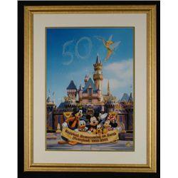 DISNEYLAND Framed LE Litho Cel GREATEST 50 CELEBRATION