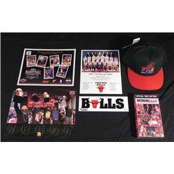 Chicago Bulls Collection Video Prints MJ Hat Sticker