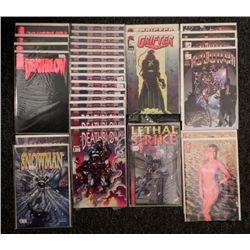 Comics Dealer Lot 31: Deathblow, Grifter, Glory,Snowman