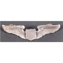 "WWII U.S. PILOTS FLIGHT WINGS-FULL 3"" SIZE-CRIMP BACK-"