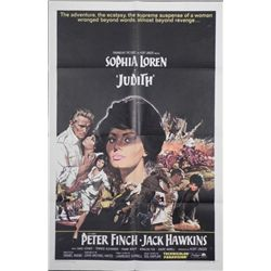 Judith Movie Poster 1966 Sophia Lauren Peter Finch