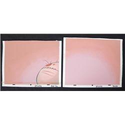 2 Ren & Stimpy Orig Production Backgrounds Stitches