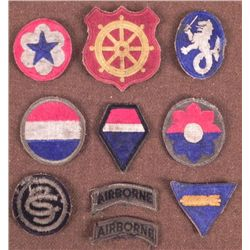 COLLECTION OF 10 WWII U.S. PATCHES-NICE ORIGINALS