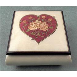 Reuge Swiss Italian Music Box w/Heart Lid -La Traviata