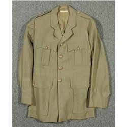 WWII BRITISH OFFICERS TUNIC COAT--OD WOOL SERGE-LINCOLN