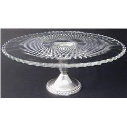 Duchin Creations Crystal & Sterling Silver Cake Stand