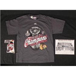 Chicago Blackhawks 2010 Stanley Cup T-Shirt,Photo,Patch