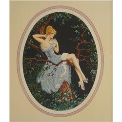 Marcel Le Boulte Art Print Loves Message 1930s Romantic