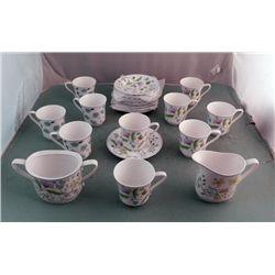 24 Spode England Bone China Afton Y8212 Tea Service Set