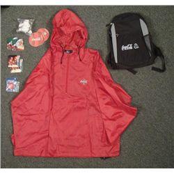 Coca Cola Lot- Backpack Coasters Pins Jacket Polar Bear