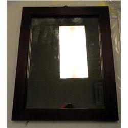 Antique Wood Frame Mirror 18 x 23 In.