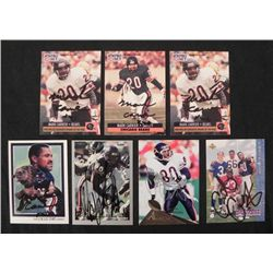 7 Signed Bears NFL Cards: Carrier, Conway, Spellman