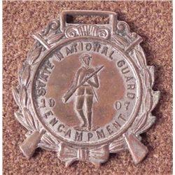 1907 STATE NATIONAL GUARD ENCAMPMENT-US MEDAL/FOB