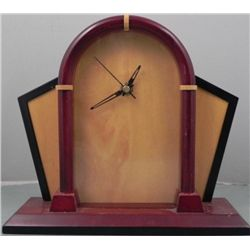 Modern Style All Wooden Desk or Mantle Clock