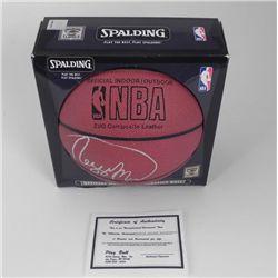 Reggie Miller Signed Spalding BASKETBALL MIB COA