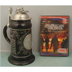 Operation Iraqi Freedom Beer Stein & National Guard DVD