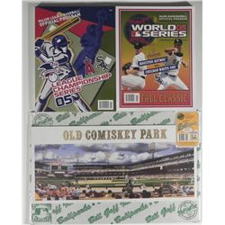 Chicago White Sox Baseball Programs & Comiskey Park Art