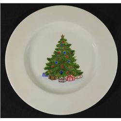 Christmas Tree Foxcroft Hand Painted China Plate