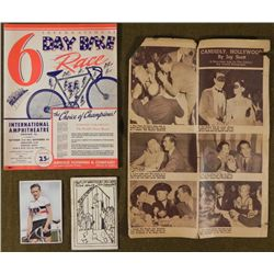 1949 PROGRAM FOR SCHWINN BIKE 6 DAY RACE IN CHICAGO