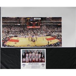 2 Chicago Bulls Prints 1st Championship Game,Team Photo