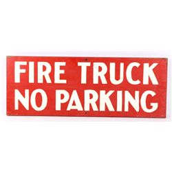 Yellowstone National Park Fire Truck Wooden Sign