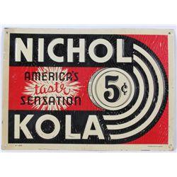 Nichols Kola Original Metal Sign