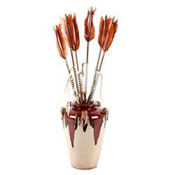 Southwest Pottery Vase & Arrows