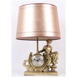 Western Cowboy Vintage Sessions Clock Lamp