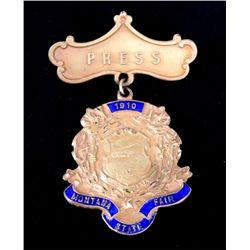 1910 Montana State Fair Press Pin