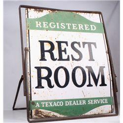 Texaco Gas & Oil Dealer Restroom Sign