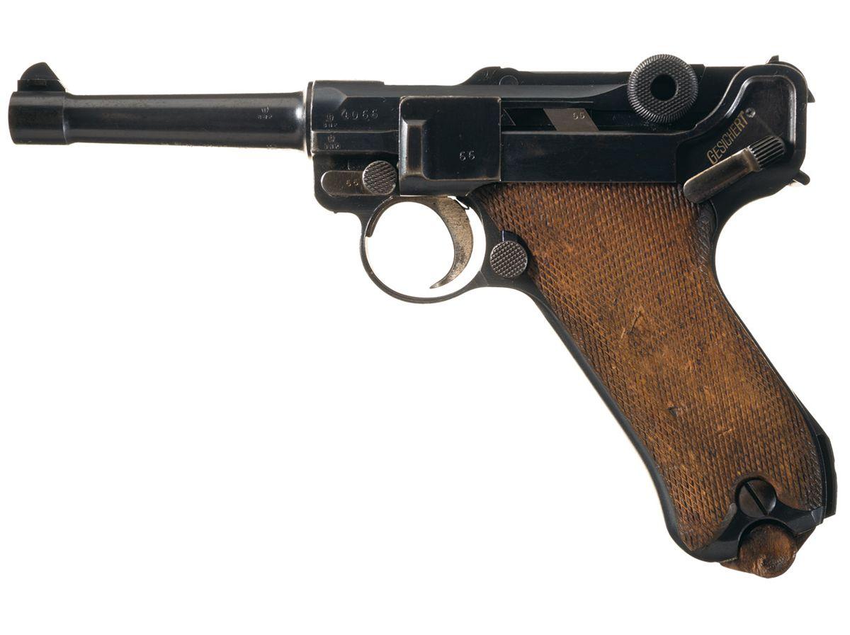 World War I German DWM (1917) Luger Pistol with British Proofmarks