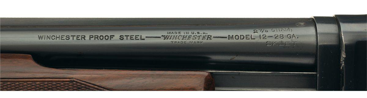 Scarce Winchester Model 12 28 Gauge Skeet Grade Slide Action Shotgun with  Solid Rib Barrel